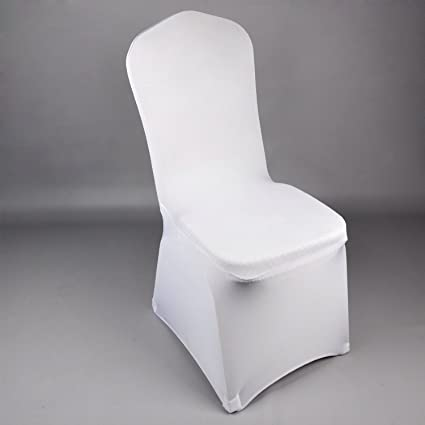 Swell Amazon Com Wholesale Wcan 100 Pieces White Lycra Machost Co Dining Chair Design Ideas Machostcouk