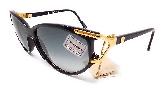 Ted Lapidus - Gafas de sol - para mujer Nero E Oro 54 ...