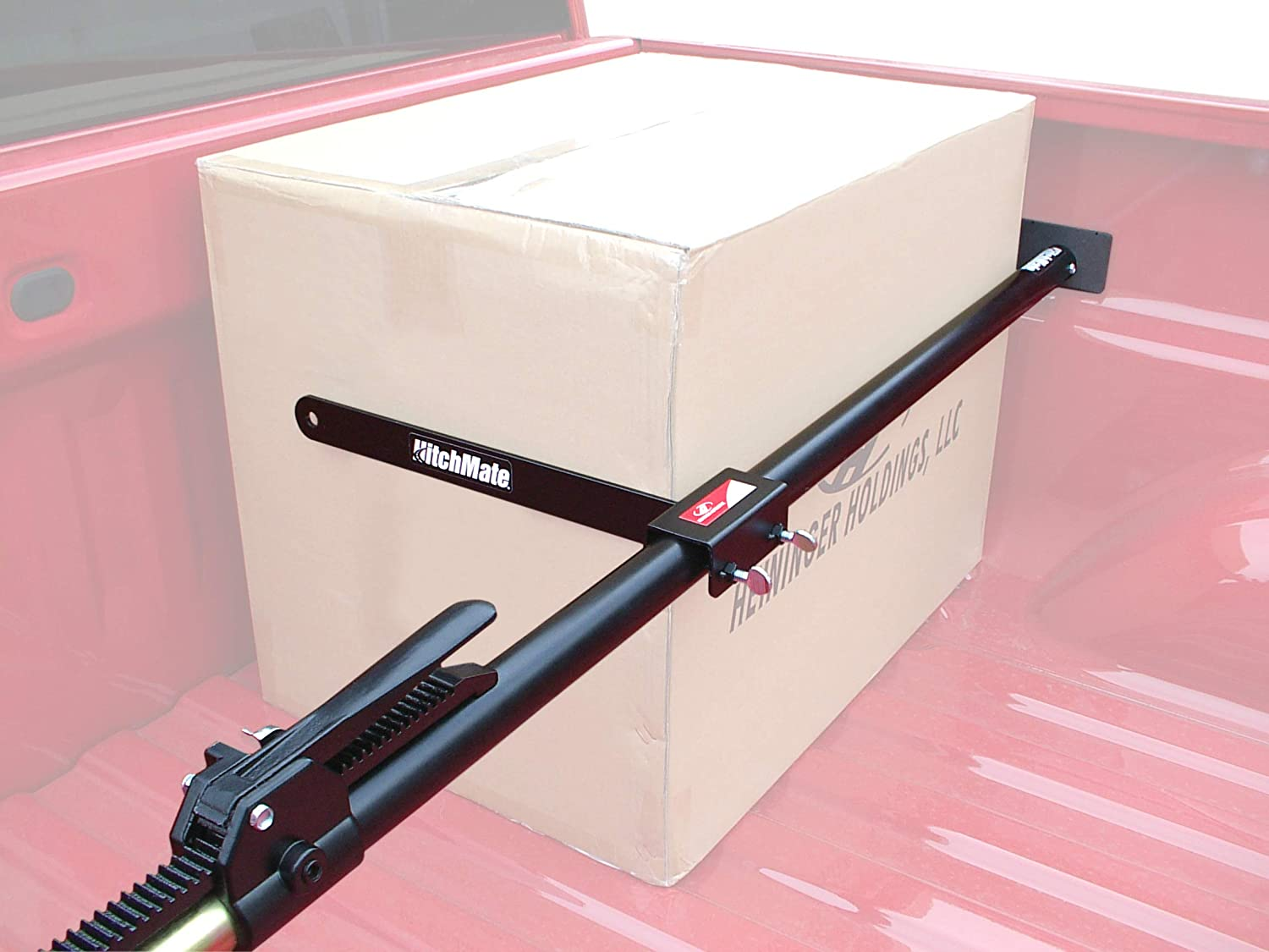 HitchMate Cargo Stabilizer Bar Full Size 59 to 73 with StabiLoad Divider Bar and Cargo Net