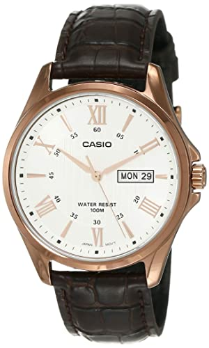 Amazon.com: Casio # mtp1384l-7av de los hombres Rose tono ...