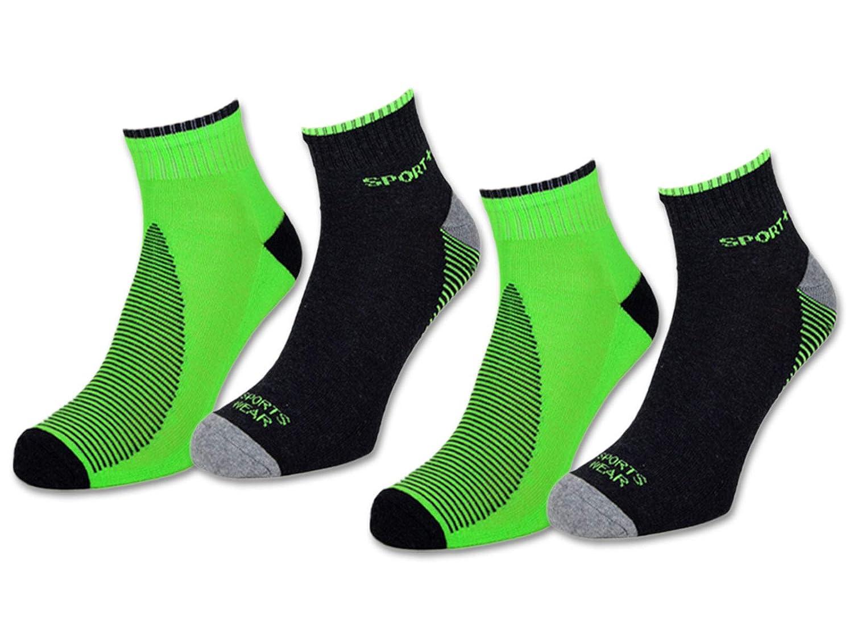 Günstige Sneaker Socken mit Neon Details