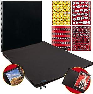 "Itoya ProFolio Poster Binder 24"" x 36"" Presentation Storage Display Portfolio + Refill Pages + Emoji Stickers"