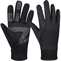 Bessteven Thermal Cycling Gloves Touchscreen Lightweight with Anti-Slip Silicone Wind Water Resistant in Early Spring Fall Winter Hand Warmers for Men Women