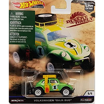 Hot Wheels Car Culture Desert Rally Volkswagen Baja Bug 5/5, Green: Toys & Games