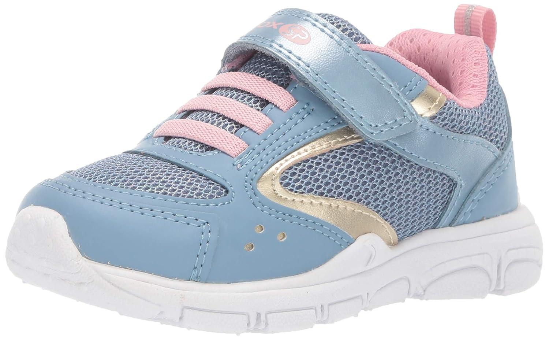   Geox Kids' New Torque Girl 4 Sp Velcro Sneaker