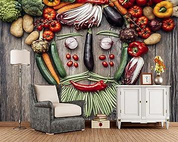 Wxlsl 3d Tapete Gemüse Tomaten Pfeffer Grüne Erbsen Kartoffel Essen