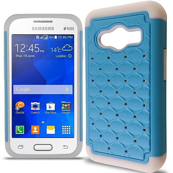 Galaxy Ace 4 Case CoverON Aurora Series Cute Rhinestone Bling Stud Diamond Cover