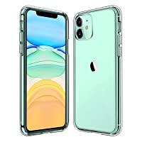 Svipear Smartphone Case for Apple iPhone 11 (2019), 6.1-Inch, Shockproof Bumper Cover, Anti-Scratch Clear Back, HD Clear