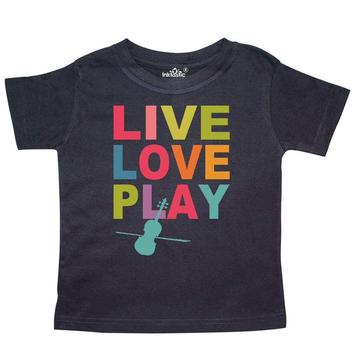 inktastic Live Love Play Violin Toddler T-Shirt
