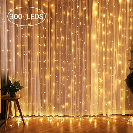 LED Lights Curtain Linkable 300 600 Leds Fairy String Christmas Party Wall Decor