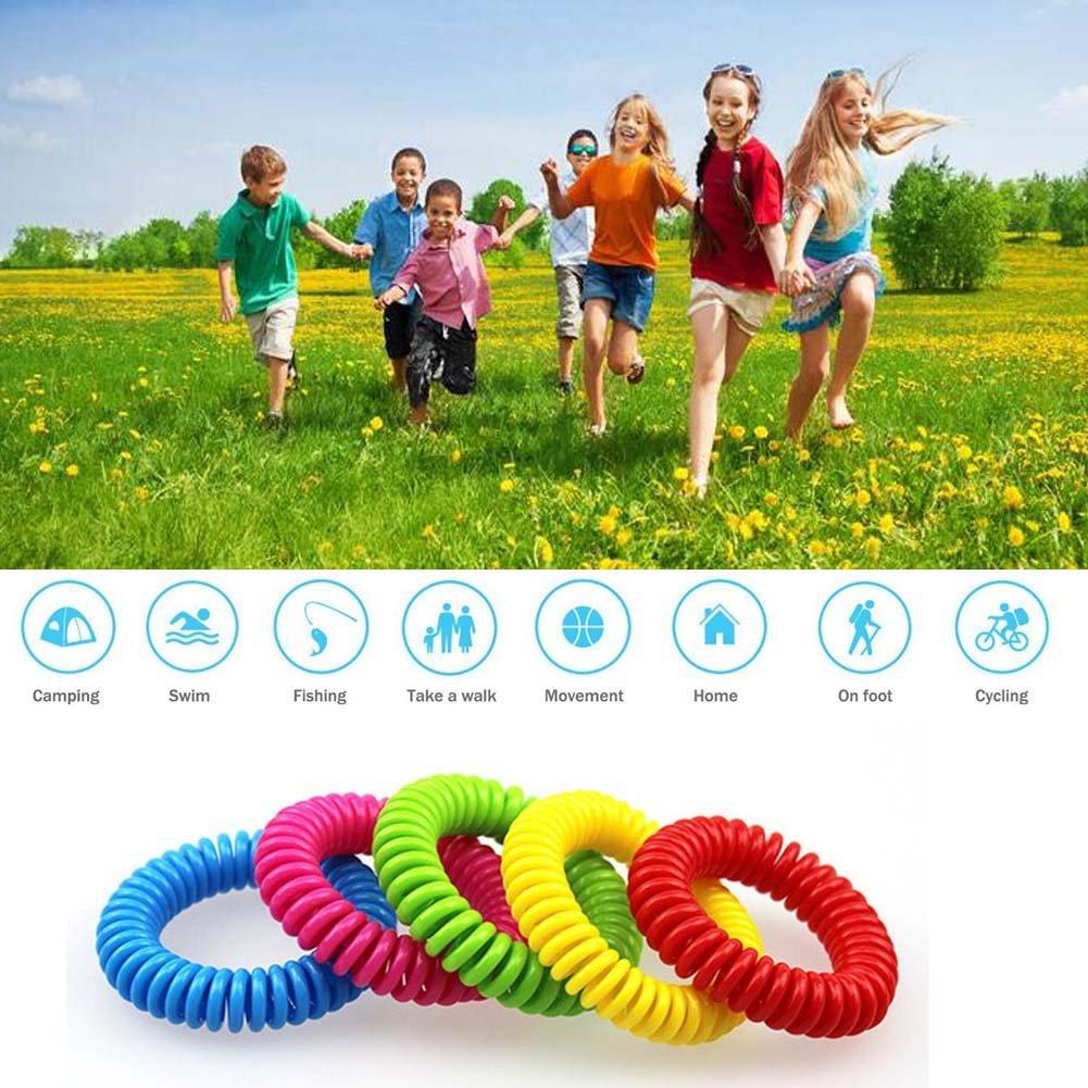 MUITOBOM 15 Pack Natural Mosquito Repellent Bracelets, 250 Hours Per Waterproof Mosquito Bracelets, Mosquito Repellent Mosquito Bands for Kids, Toddler, Adults