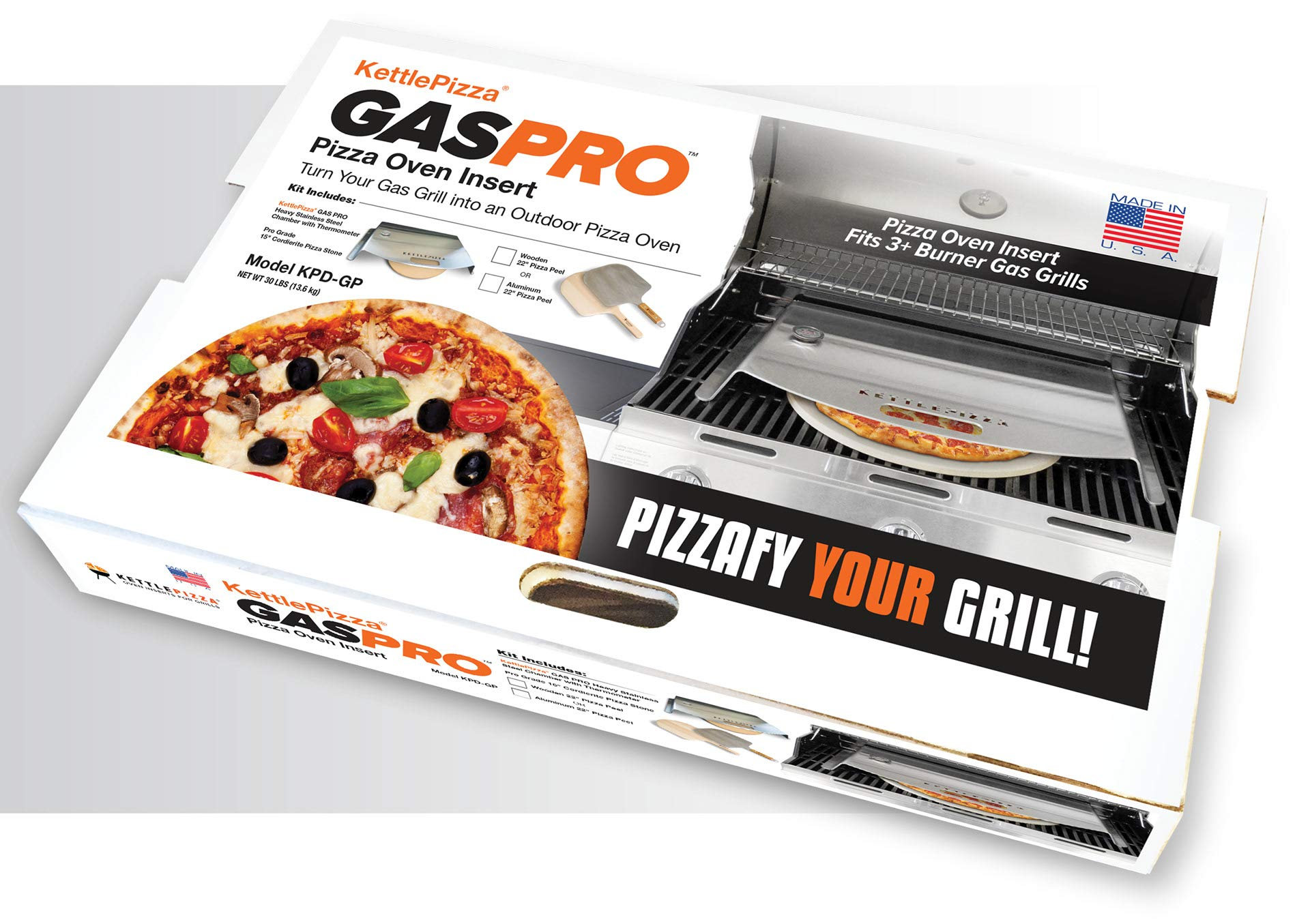 KettlePizza Gas Pro Basic Pizza Oven Kit - KPB-GP by Kettle Pizza