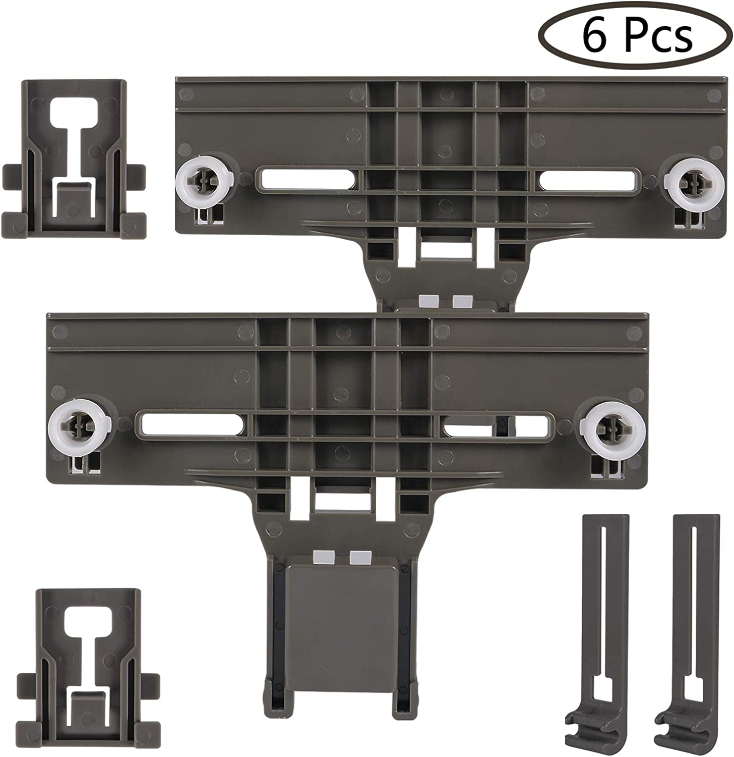 Cykemo W10350376 & W10195840 & W10195839 Dishwasher Rack Adjuster Kit Replacement for Kenmore Dishwashers(Pack of 2)