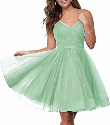Glitter Tulle Prom Ball Gowns