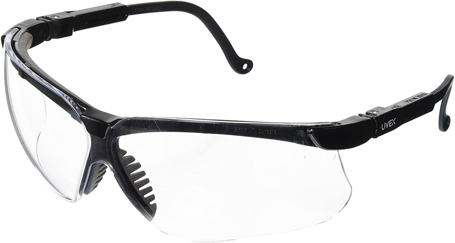 Uvex by Honeywell Genesis Safety Glasses with Uvextreme Anti-Fog Coating, Black Frame
