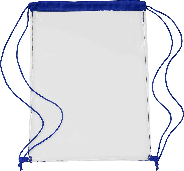 notrash2003 Mochila deportiva transparente Mochila premium con cord/ón como mochila escolar y para festivales transparentes en 5 colores