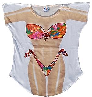 a223831ec2c23 Fantasy Cover-ups Women's Plus Size Tropical Fantasy Swimsuit Cover-Up