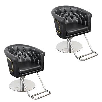 amazon com beauty salon chair seline with nailhead tufting 2 rh amazon com