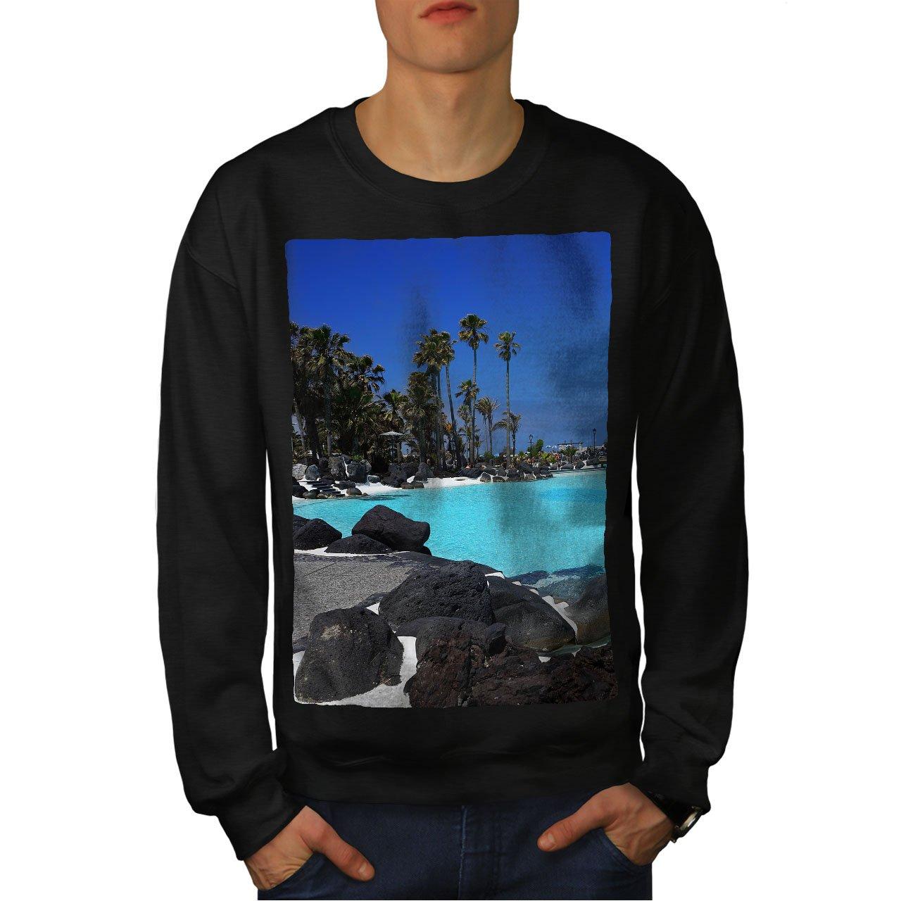 Nature Casual Jumper wellcoda Sea Tropical Sky Mens Sweatshirt