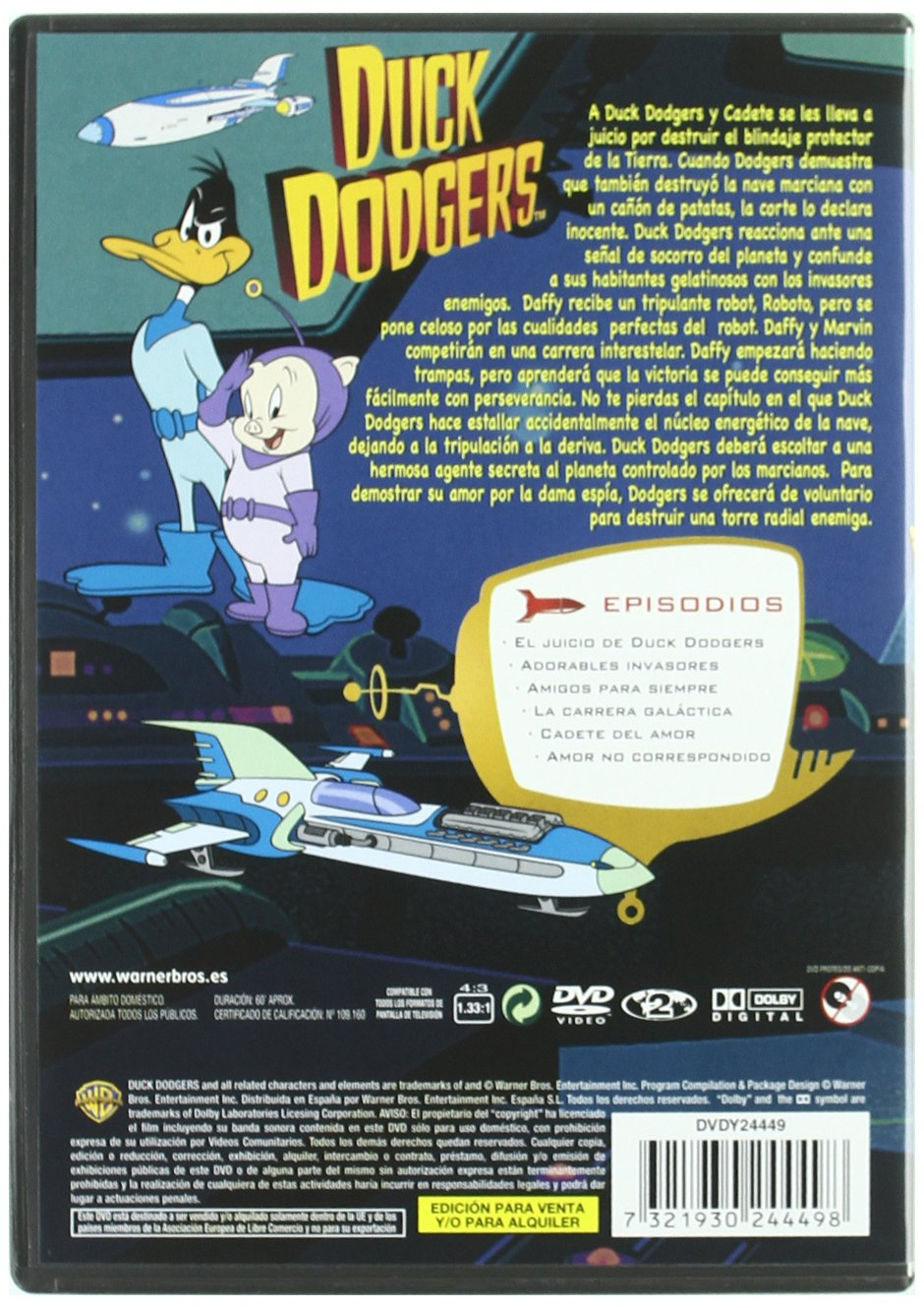 Amazon.com: Duck Dodgers: Carrera Galáctica *** Europe Zone ***: Movies & TV