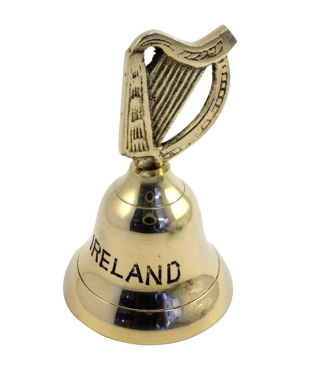 Brass Bell with Harp Handle From Ireland Liffey Artefacts SB10S