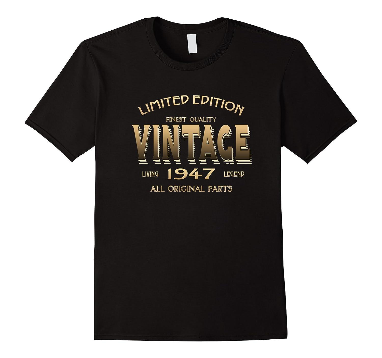 Vintage 1947 T-shirt 70th Birthday Gift 70 Year Old B-day Yr