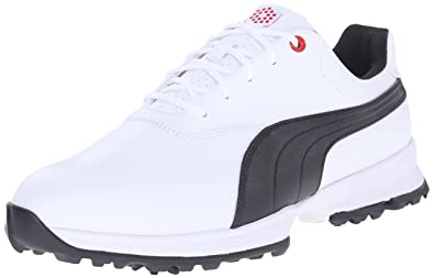704c0abcb81e5b PUMA Men's Golf ACE Shoe, White/Black/High Risk Red 11.5 ...