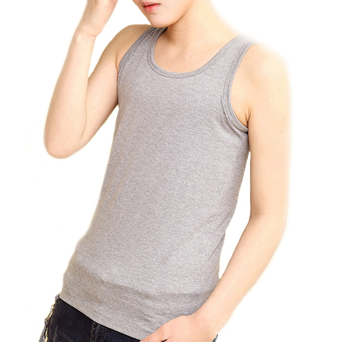 BaronHong Chest Binder Cotton Vest Tank Top for Tomboy Lesbian (Can be Worn Alone) 41098570606-T