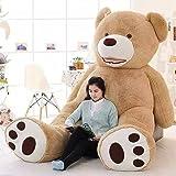 63 Inch Stuffed Teddy Bears With Big Footprints Plush Toys Light Brown 5 ft teddy bear