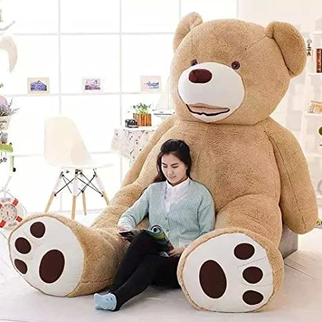 39 Inch Stuffed Teddy Bears With Big Footprints Plush Toys Light Brown