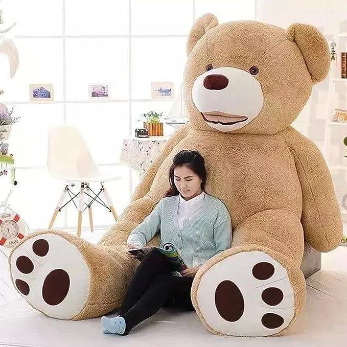 Amazon.com: 39 Inch Stuffed Teddy Bears With Big Footprints Plush Toys Light Brown: Toys & Games