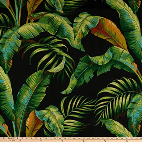 Tommy Bahama Indoor//Outdoor Palmiers Caviar Fabric by the yard
