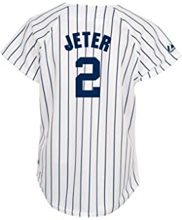7fbcd225e60 MLB New York Yankees Derek Jeter Women s White Navy Fashion Replica Jersey