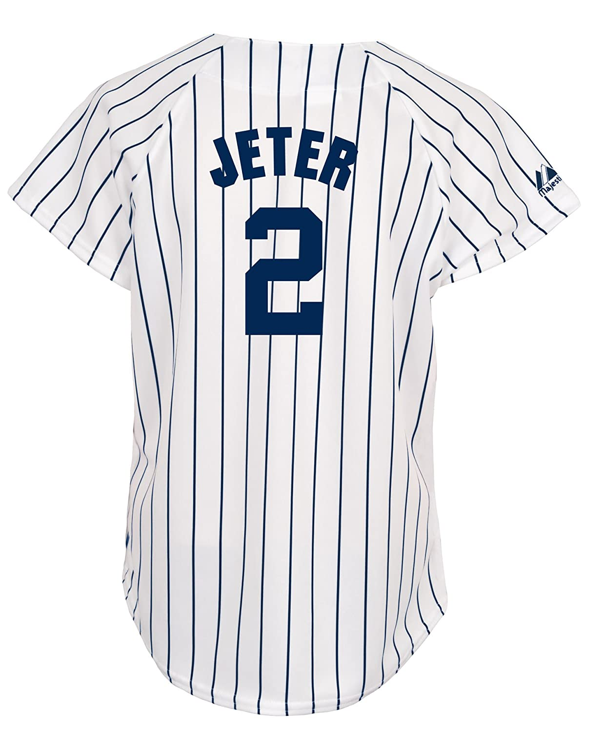 finest selection 3c8ee eed34 MLB New York Yankees Derek Jeter Women's White/Navy Fashion Replica Jersey