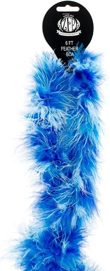 Ostrich /& Marabou Feather Boa Light Blue