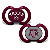 Baby Fanatic 2 Piece Pacifier Set, Texas A&M Aggies