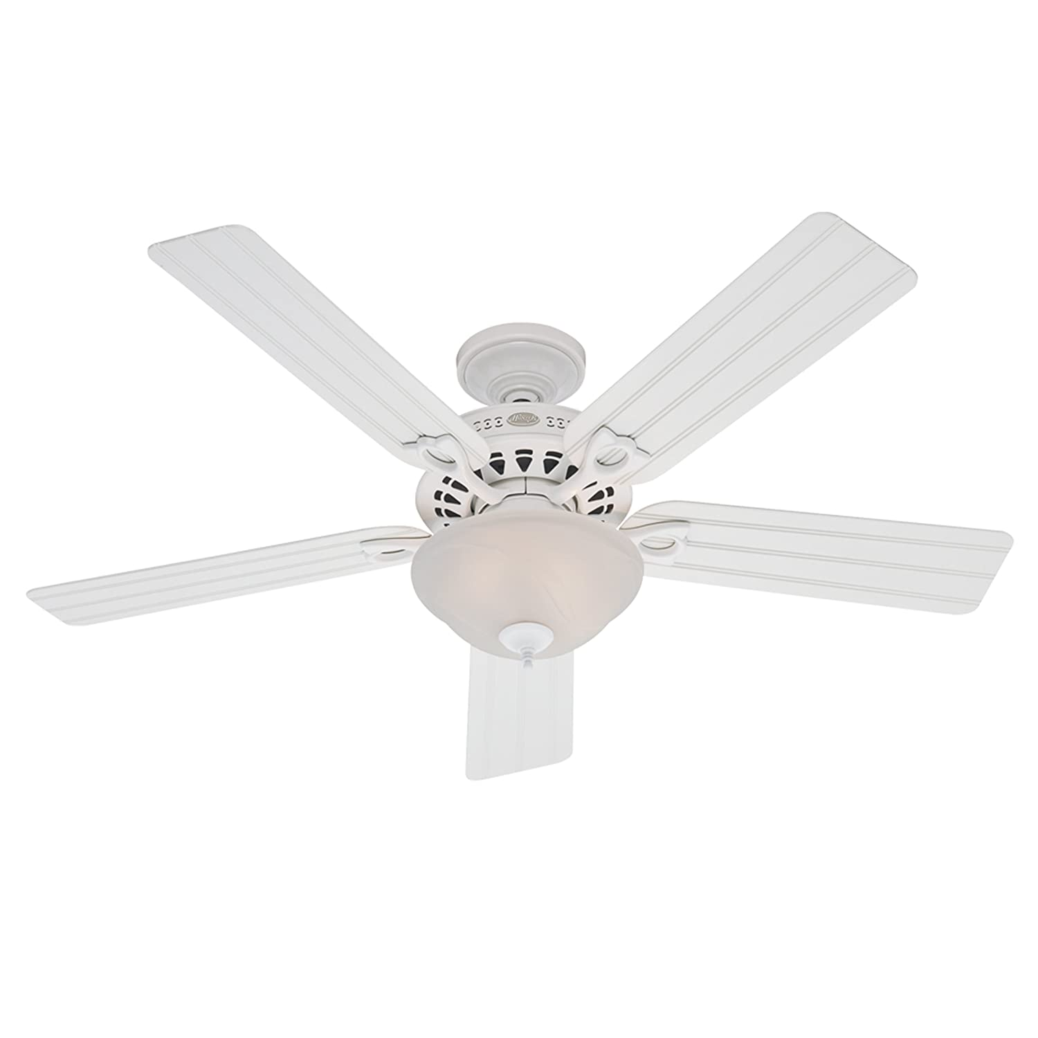 Hunter Beach ber 52 Inch 3 Speed Ceiling Fan with 5 White