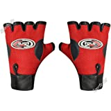 Sports 101 Polo Fit Leather Fitness Gloves, Free Size (Red)