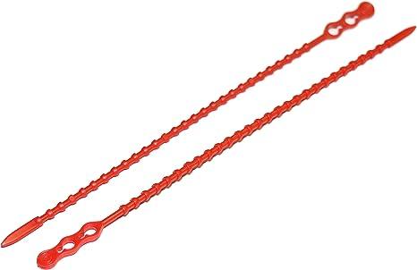 Rotek Blitzbinder Knotenbinder Wiederlösbar 180mm Lang 3 5mm Knoten Farbe Rot 200 Stk Packung Baumarkt