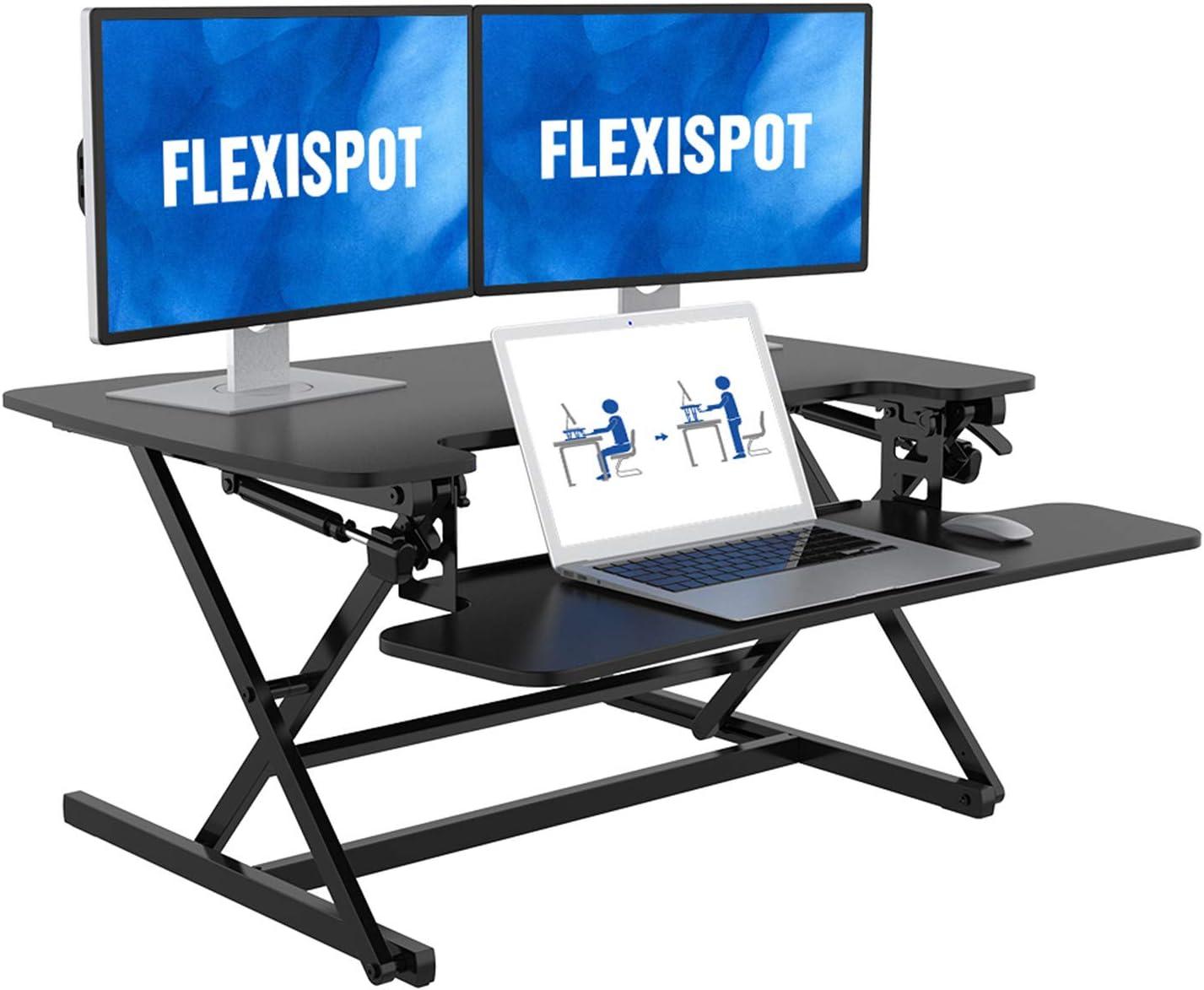 FlexiSpot M8MB 35″ Height Adjustable Standing Tabletop Desk