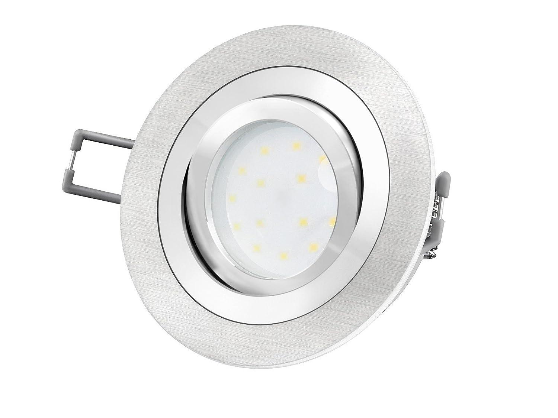 8W LITEN Einbau Decken Strahler Leuchte Rund Flach LED SMD NEUTRAL WARM 230V