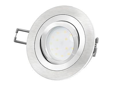 Gut bekannt LED-Einbaustrahler Ultra flach (30mm) RF-2 rund Alu gebürstet CA99