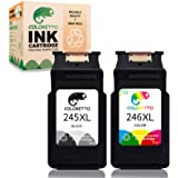 COLORETTO Remanufactured Ink Cartridge Replacement for Canon Pg-245Xl Cl-246Xl PG-243 CL-244 245 246 XL to use with Canon PIX