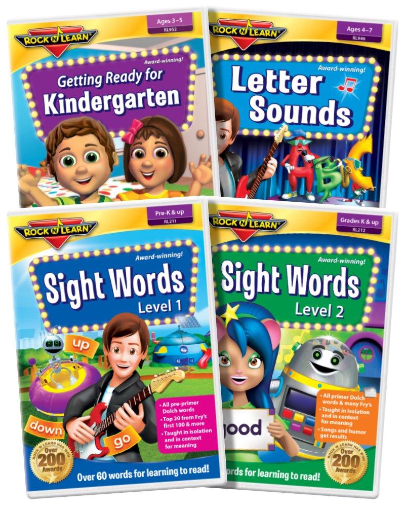 Rock 'N Learn Preschool & Kindergarten DVD Collection: Letter Sounds Phonics for Beginners, Sight Words, Getting Ready for Kindergarten
