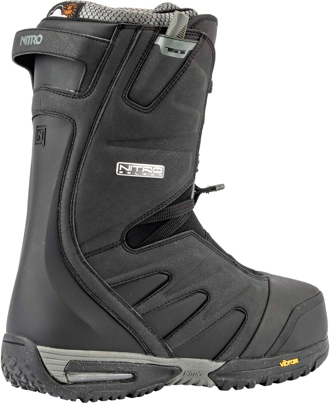Black 29.5 Nitro Snowboards Mens Select TLS 20 All Mountain Freeride Freestyle Premium Speed Lacing System Boat Snowboard Boat