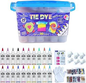 WINSONS Tie Dye Kit, 20 Colores de Tinte de Tela Permanente ...