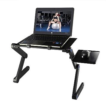 Soporte Ajustable para computadora portátil para Cama, portátil, Plegable, Soporte de Mesa para Ordenador portátil Mackbook Pro HP: Amazon.es: Electrónica