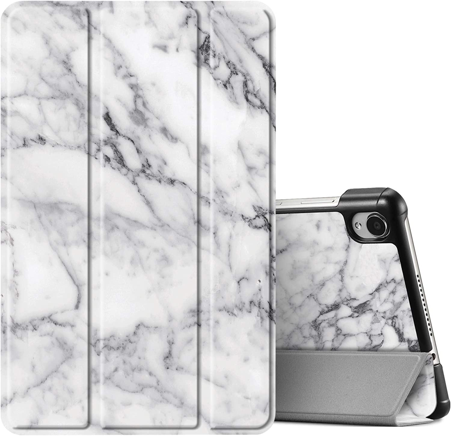 Fintie Case for Lenovo Tab M8 / Smart Tab M8 / Tab M8 FHD - Lightweight Slim Shell Stand Cover for Lenovo Tab M8-HD (2nd Gen) TB-8505F / TB-8505X 2019 8.0 Inch Android Tablet, Marble White