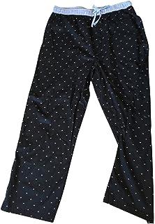 Tommy Hilfiger Mens Poplin Sleep Pant Pajama Black Logo XL