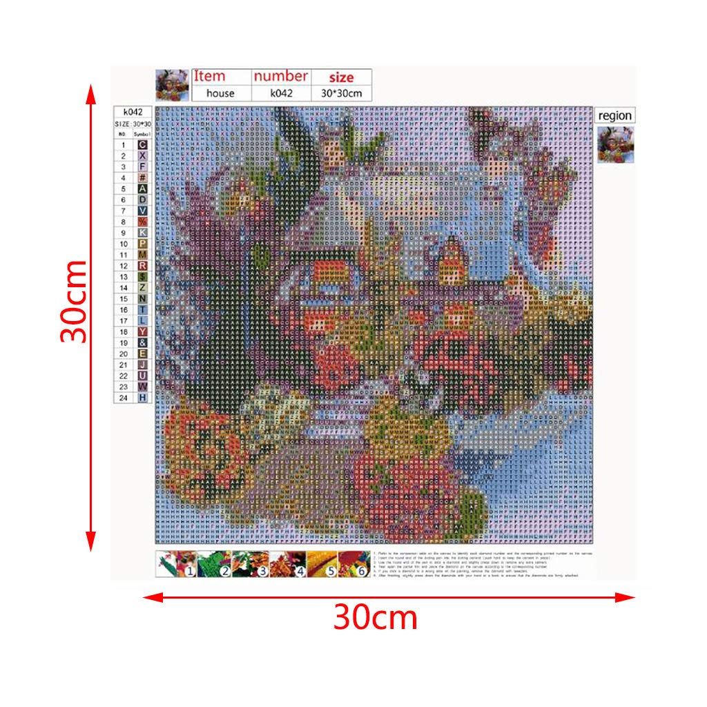 cici store 5D DIY Diamond Painting Full Round Drill Flower,Cross Stitch Painting Kit Rhinestone Embroidery for Wall Decoration,11.8x11.8in